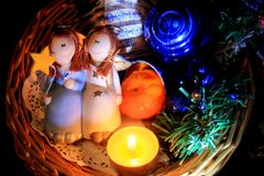 Счастливые ангелы Стоковые Фото