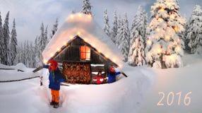 Счастливые альпинисты праздника Стоковое Изображение RF