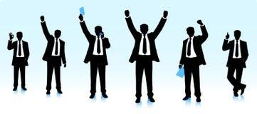 Счастливые бизнесмены бесплатная иллюстрация