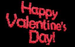Счастливые воздушные шары дня валентинки Стоковое Изображение RF