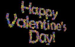 Счастливые воздушные шары дня валентинки, multicolor. Стоковые Изображения