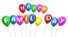 Счастливые воздушные шары дня семьи Стоковая Фотография