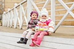 Счастливые девушки малыша Стоковое Изображение