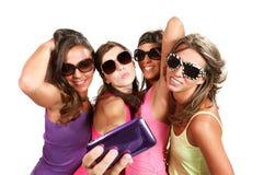 Счастливые девушки Стоковые Фото