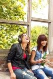 Счастливые девушки Стоковая Фотография