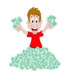 счастливые деньги Иллюстрация штока