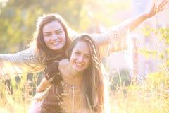счастливые детеныши женщины Стоковая Фотография