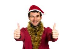 счастливые детеныши santa стоковое фото