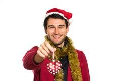 счастливые детеныши santa стоковое фото rf