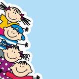 Счастливые дети, знамя Стоковые Фото