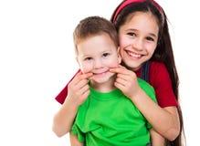 Счастливые дети играя совместно Стоковая Фотография