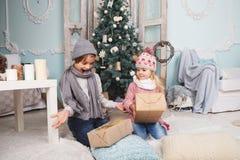 Счастливые дети Нового Года стоковая фотография rf