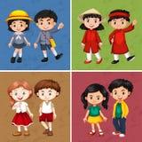 Счастливые дети от различных стран бесплатная иллюстрация