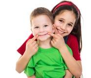 Счастливые дети совместно Стоковая Фотография