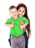 Счастливые дети совместно Стоковое Изображение