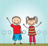 Счастливые дети Стоковые Изображения RF