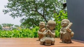 Счастливые диаграммы монахов ребенк Стоковые Фотографии RF