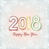 Счастливые дизайн Нового Года 2018 абстрактный бесплатная иллюстрация