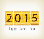 Счастливые дизайн часов сальто Нового Года 2015 механически бесплатная иллюстрация