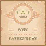 Счастливые карточки Дня отца иллюстрация штока