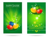 Счастливые карточки пасхи Стоковые Изображения