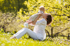 Счастливые мать и сын Стоковая Фотография