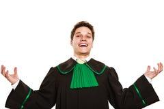 Счастливые мужские руки владением юриста в воздухе Стоковые Изображения