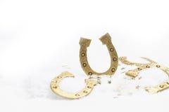 Счастливые Новые Годы приветствиям в белом снеге Стоковая Фотография