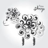 счастливые овцы Стоковые Изображения