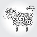 счастливые овцы Стоковое Фото