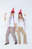 Счастливые отвратительные танцы пар Стоковое Изображение RF
