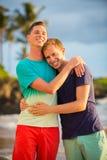 Счастливые пары гомосексуалиста стоковое фото rf