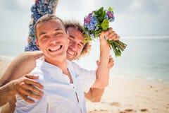 Счастливые пары гомосексуалиста Стоковое Изображение