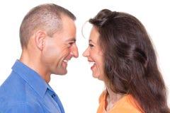 Счастливые пары Стоковое фото RF