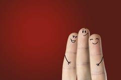 Счастливые пальцы Стоковая Фотография