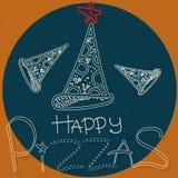 Счастливые пиццы с звездой в круге Стоковая Фотография RF