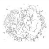 Счастливые пожененные пары с малым ребенком Влюбленность, преданность навсегда Стоковые Изображения RF