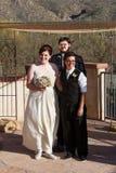 Счастливые пожененные пары Стоковые Фотографии RF