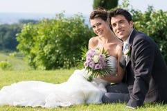 Счастливые пожененные пары Стоковое фото RF
