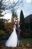 Счастливые пожененные пары Стоковая Фотография RF