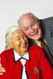 Счастливые пожилые пары наслаждаются жизнью Стоковые Фотографии RF