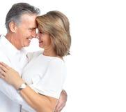 Счастливые пожилые пары. стоковое фото rf