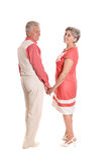 Счастливые пожилые пары Стоковое фото RF