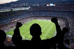 Счастливые поклонники футбола Стоковые Изображения RF