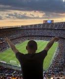 Счастливые поклонники футбола Стоковое фото RF
