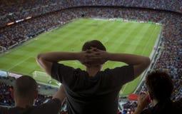 Счастливые поклонники футбола Стоковое Изображение RF
