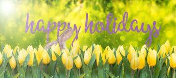 Счастливые праздники пасхи Стоковые Изображения