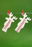 Счастливые праздники приветствуя стоковые изображения