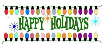 Счастливые праздники бесплатная иллюстрация