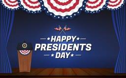 Счастливые президенты День Предпосылка иллюстрация штока